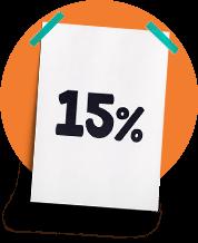 Desconto de 15%  em novos cursos